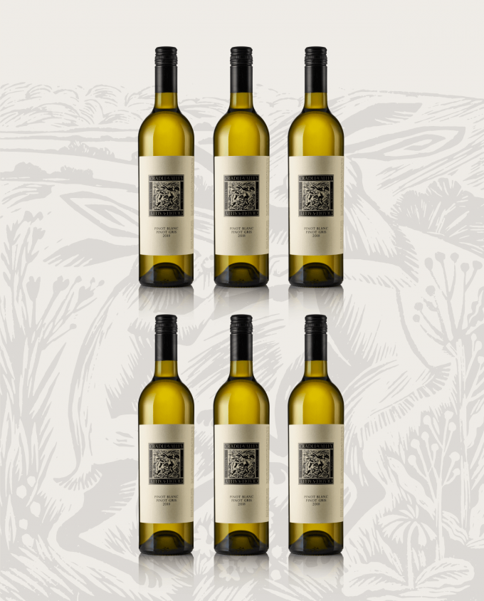 2018 Cradle Valley Pinot Blanc Pinot Gris 6 Bottle Case